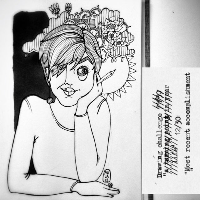 """Drawing challenge 12/30 