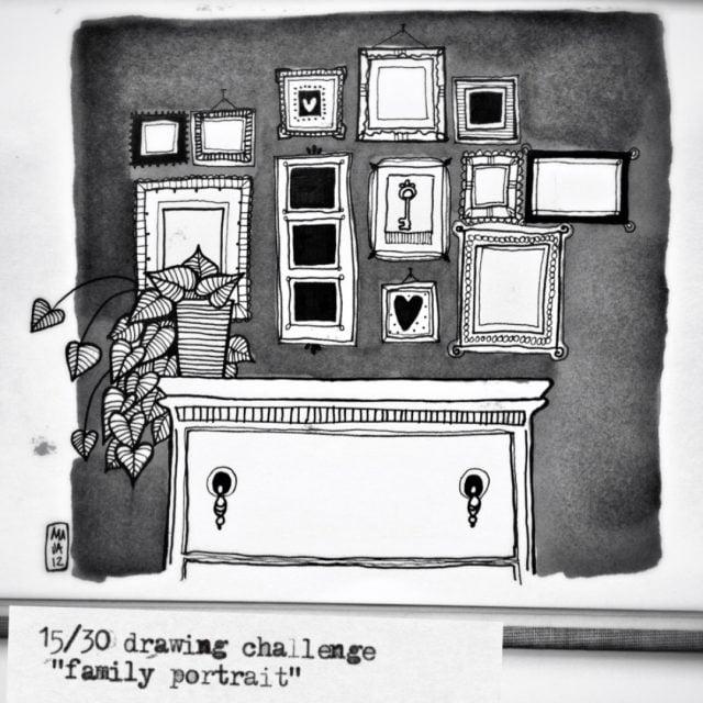 "Drawing challenge ""Comic!"", ""Fave fairytale"", ""Family portrait""…"