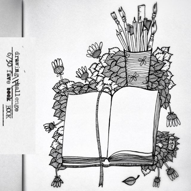 Drawing challenge 6/30 | Fave book