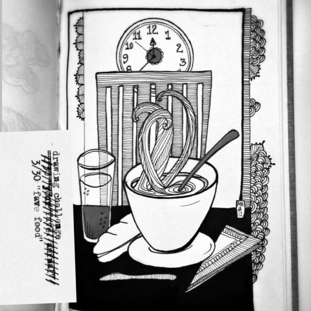 Drawing challenge 3/30 | Fave food