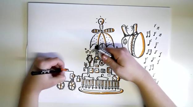 """Film illustration """"Maskinen"""", för Wiminvest"""