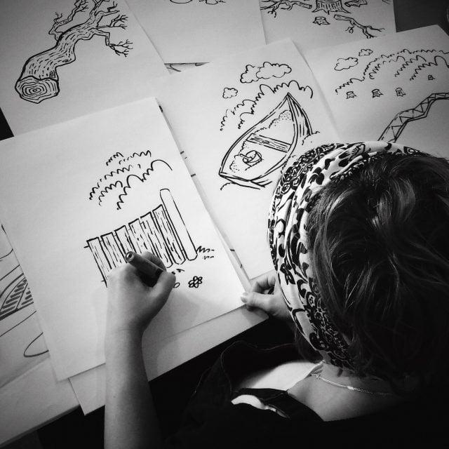 Graphic recording, visualiserat workshops i Haparanda