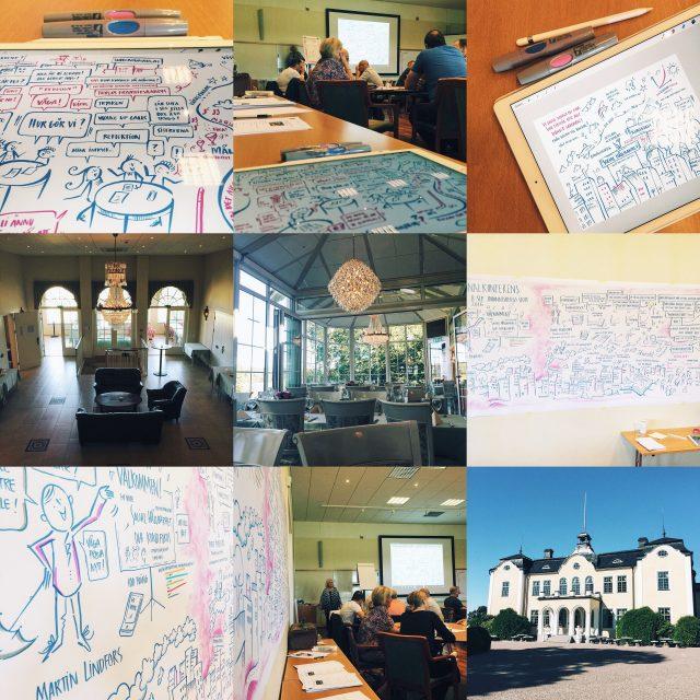 Summering-dag-graphic-recording-sollentunahem-mia-hultman-troedtroedson-maja-på-näset-konferens
