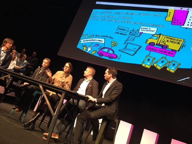 HiQ goes Back to the Brilliant Future – graphic recording i Visby