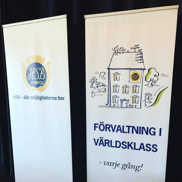 Arbete med HSB, ritade workshops och konferenser