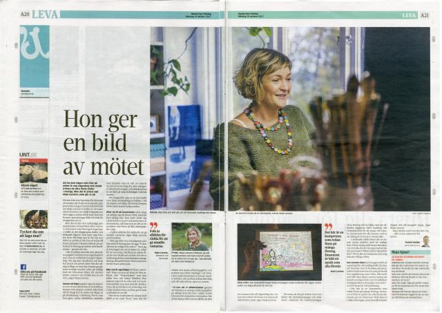 Reportage i Uppsala Nya Tidning