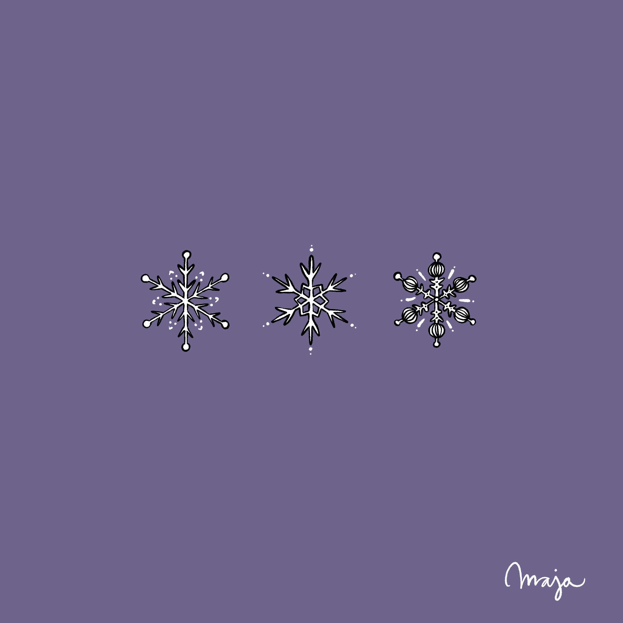 illustration snöflingor ritakurs