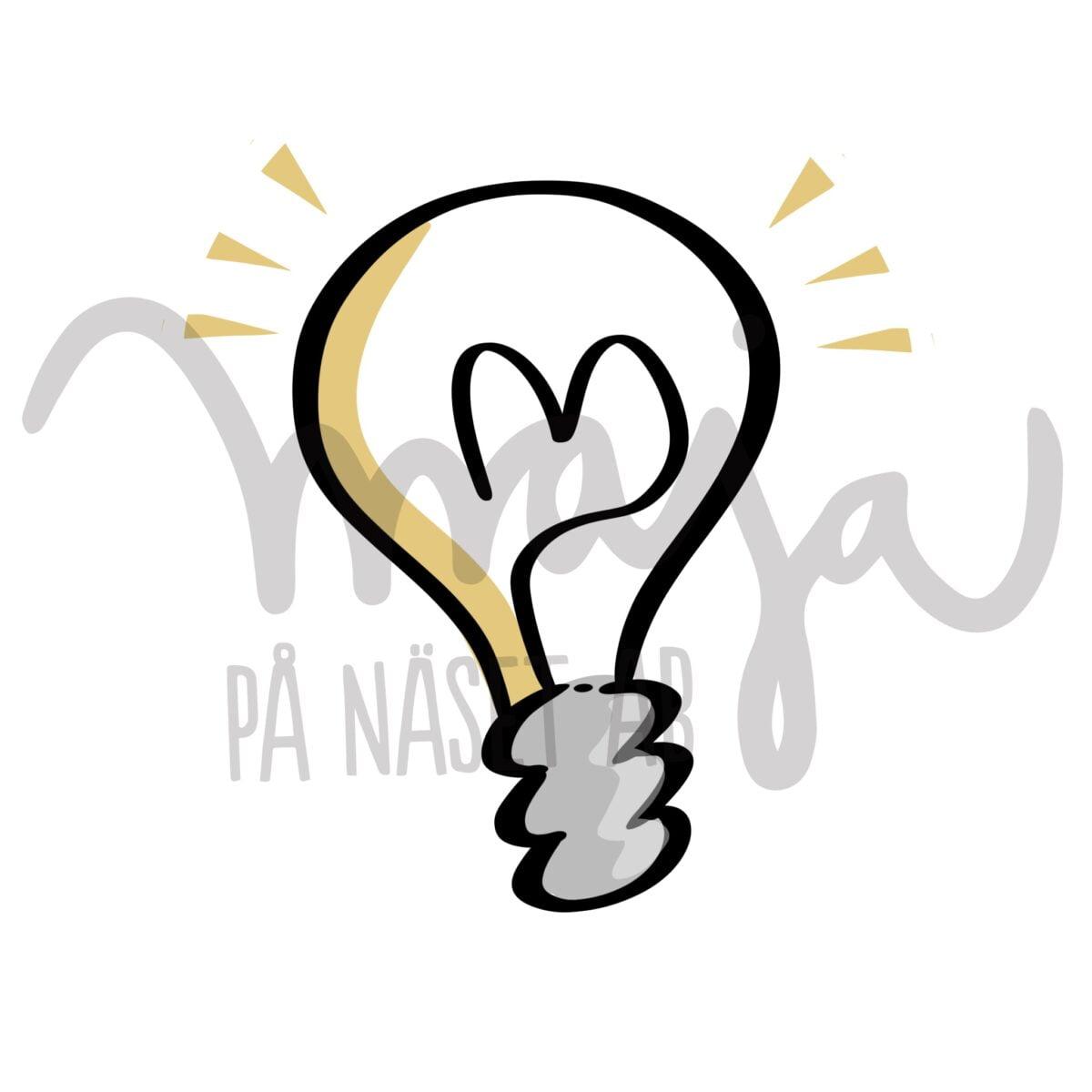 butiksbild-Symbol-illustration-glodlampa