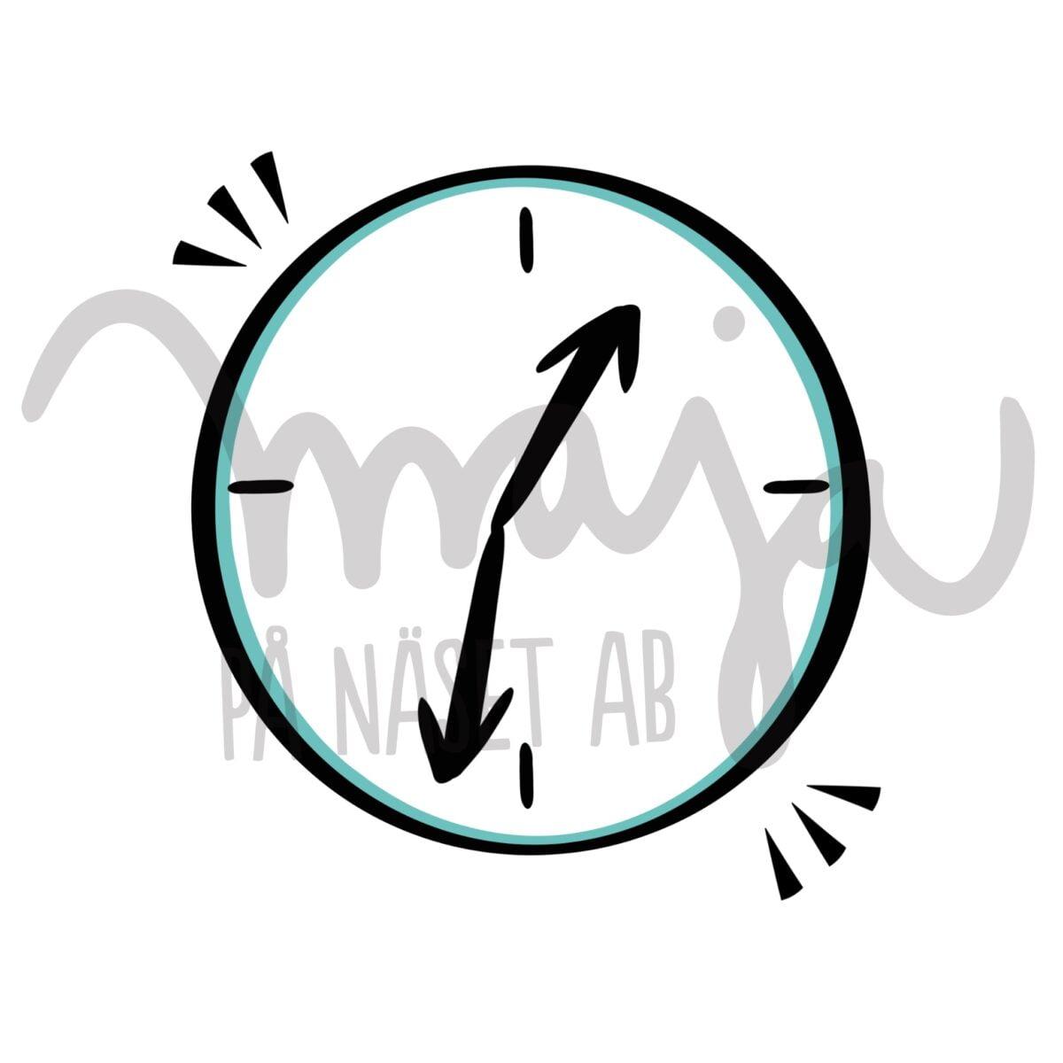 butiksbild-Symbol-illustration-klocka